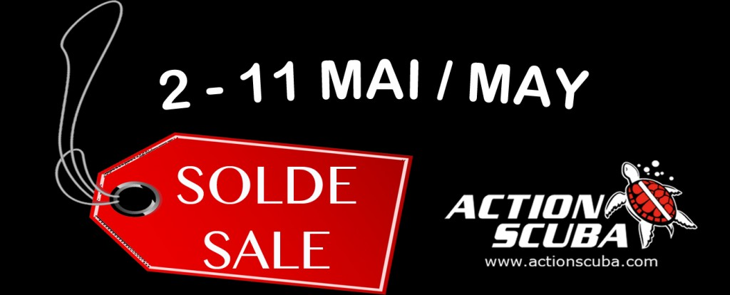 Montreal scuba diving equipment sale May 2014