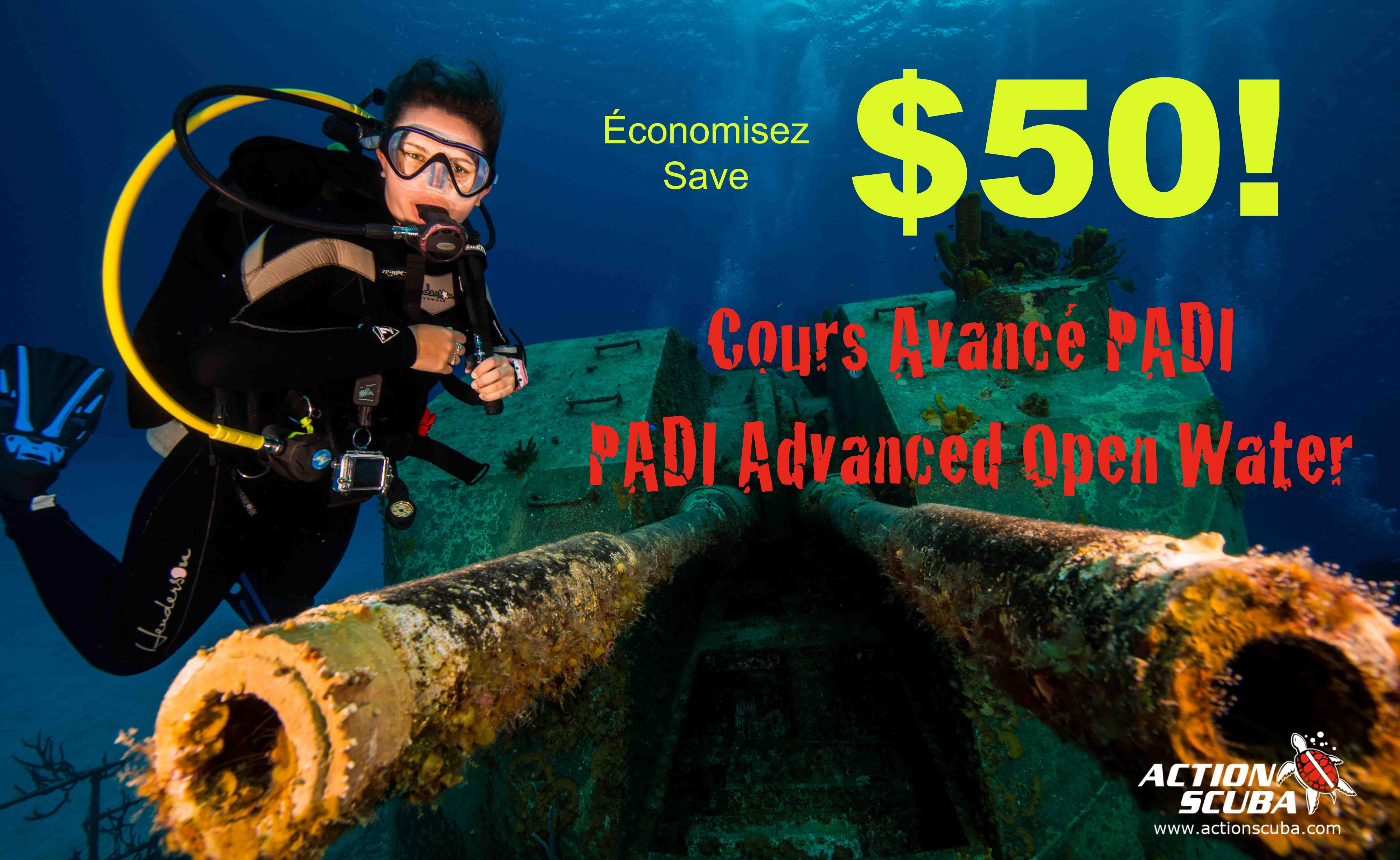 Save $50 on your PADI Advanced Open Water Diver course