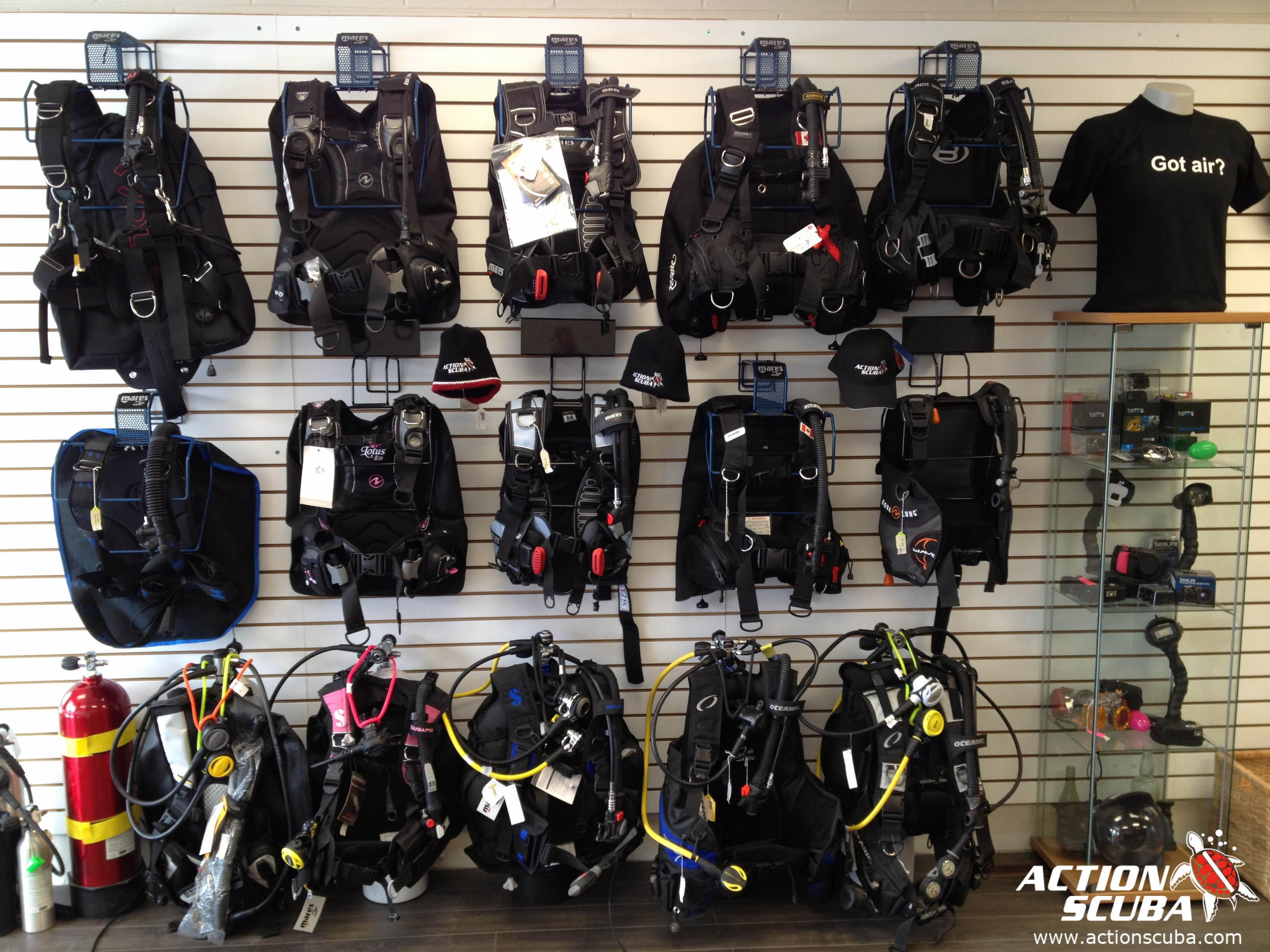 Montreal scuba diving shop action scuba dive gear for The dive shop
