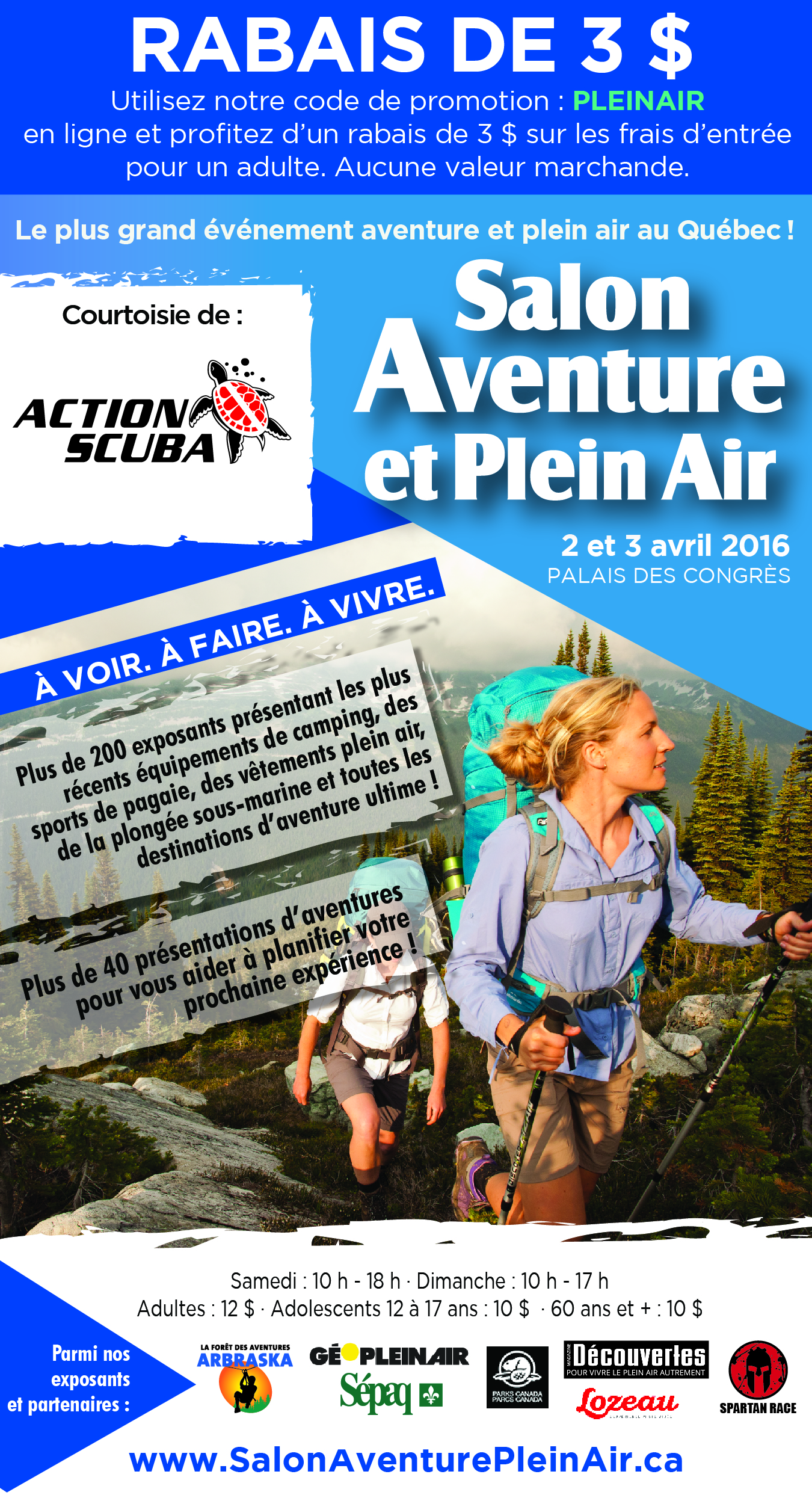Outdoor Adventure Show Montreal coupon 2016