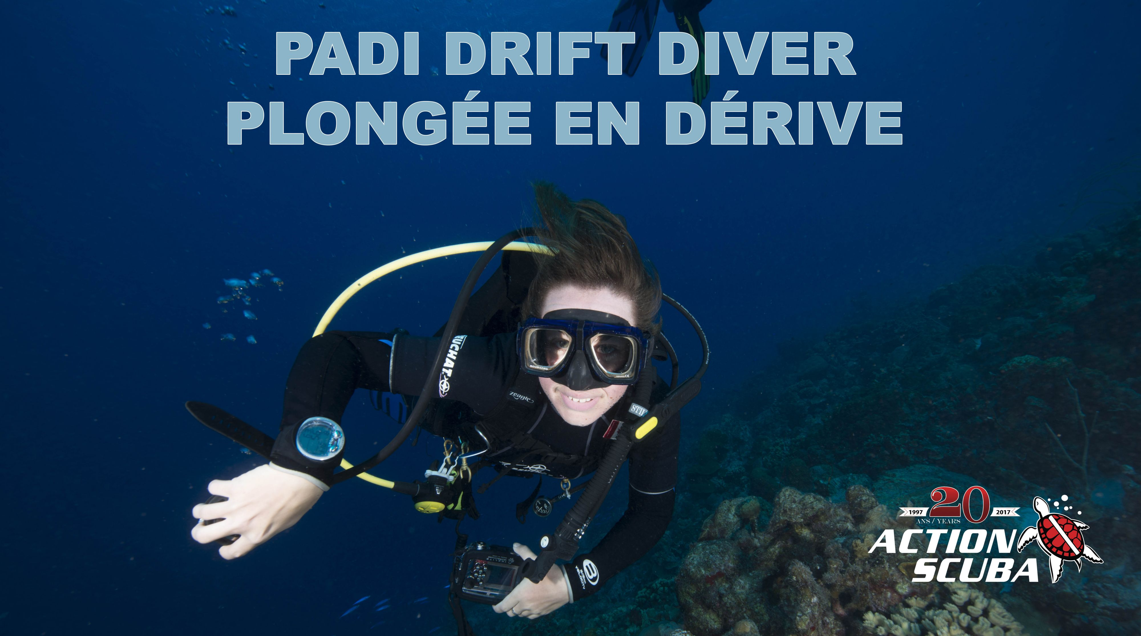 PADI Drift Diver course montreal brockville
