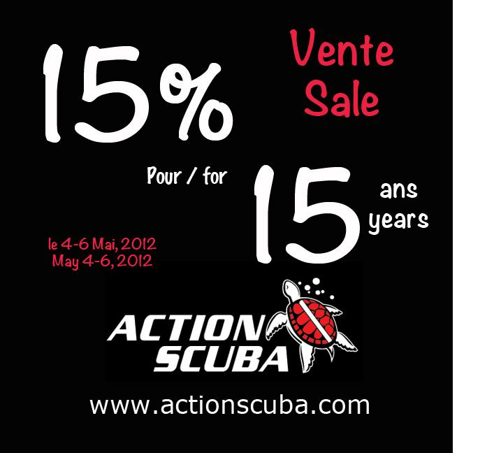 Scuba diving Montreal 15 years of excellence - scuba diving sale 15% off